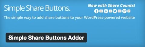 WORDPRESSに超シンプルなソーシャルボタンを設置できるプラグインSimple Share Buttons Adder