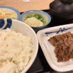 #豚肩ロースの豚焼肉定食 #お肉1.5倍増量 #松屋