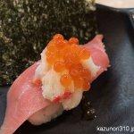 #かっぱ寿司 #三段つかみ寿司