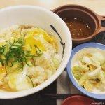 #ふあとろ玉子のあんかけ朝ごはん #松屋 #選べる小鉢 あんかけ玉子ご飯が美味しい