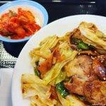 #お肉たっぷり回鍋肉定食 #キムチ #松屋 キムチがおいしい