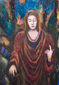 New, contemporary, christhianity theme, historic human figure, figurative, religious symbolism, biblical, colorful, acrylic, classical style portrait painting #6842, 2007 | Kazuya Akimoto Art Museum