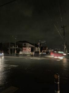 台風15号で停電。