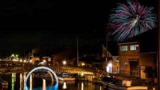 「日本のベニス」と言われる富山・新湊内川のライトアップイベント「十楽の市」を楽しむ。30日まで☆