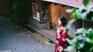 金沢・ひがし茶屋街と着物美人