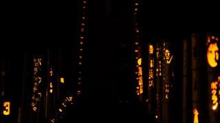 秋の静かな夜に優しい光☆金沢市新保町の竹とうろうまつりに行ってきました。