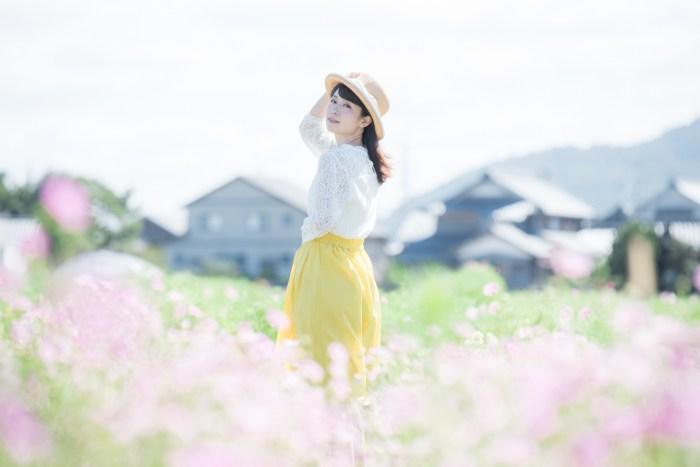 福井・宮ノ下コスモス公苑ポートレート撮影