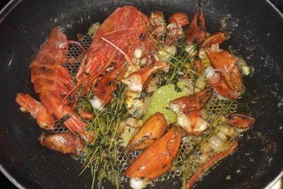 Lobster & Salmon Ravioli with Lobster Sauce 17