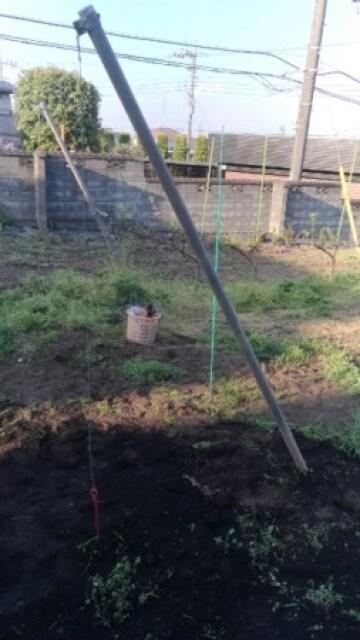 V字ジョイント用の果樹棚の作り方 41