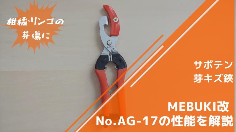 サボテン 芽キズ鋏MEBUKI改 No.AG-17の性能を解説【リンゴ・柑橘の芽キズに】 169