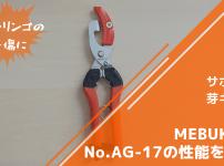 サボテン 芽キズ鋏MEBUKI改 No.AG-17の性能を解説【リンゴ・柑橘の芽キズに】 149