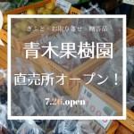【直売所開店のお知らせ】7/26(月曜)より青木果樹園 直売所オープンしました【梨・ブドウの直売所・藤沢】 32
