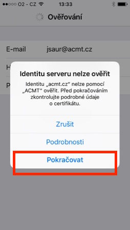 iPhone - Certifikát