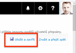 Office 365 - Uložit a zavřít