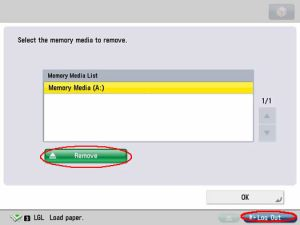 Image of remove USB drive