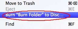 Image of burn Burn Folder to disk