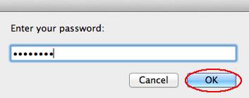 Image of password dialog box