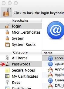 Image of Keychain passwords