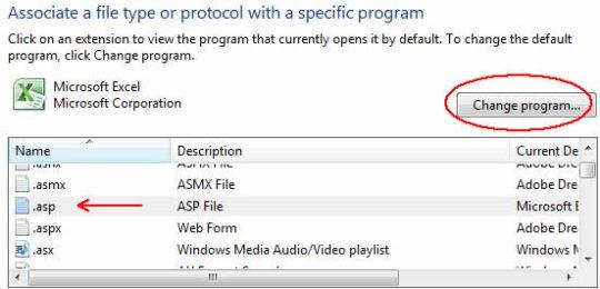 Image of Associate a file type dialog box