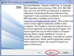 SPSS license screen