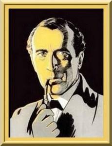Sherlock Holmes by American artist Frederic D. Steele (1873-1944)