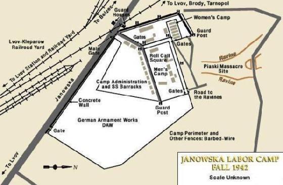 Cхема лагеря Яновский