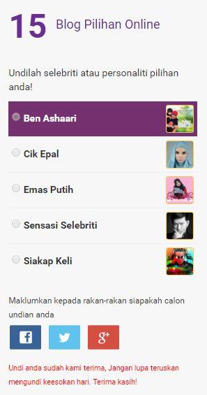 Undi Ben Ashaari APO 2016