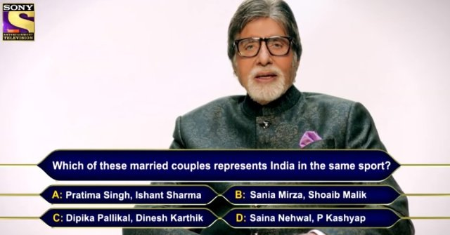 Ques :  Which of these married couples represents India in the same sport?