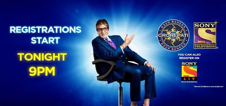 Registration starts tonight on SOny TV KBC