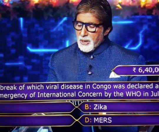 Ques : The outbreak of which viral disease in Congo was declared a Public Health Emergency of International Concern by the WHO in July 2019?