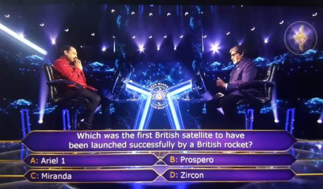 One Crore Ques : Which was the first British satellite to have been launched successfully by a British rocket?