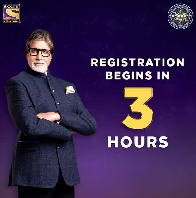 3 hours to go for KBC Registration – Starting today at 9 PM