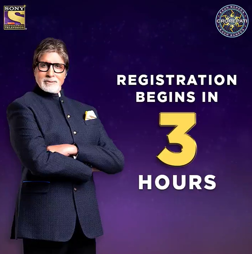 3 HOURS TO GO FOR KBC REGISTRATION