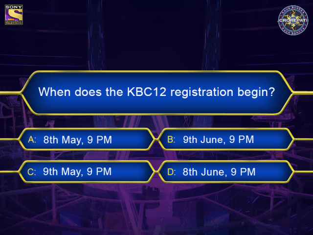 When does the KBC12 registration begin? Answer Now
