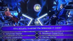 Who actually invented the telescope in 1608