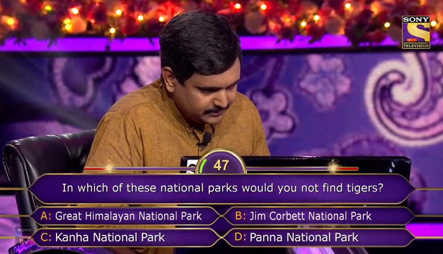 Ques : In which of these national parks would you not find tigers?