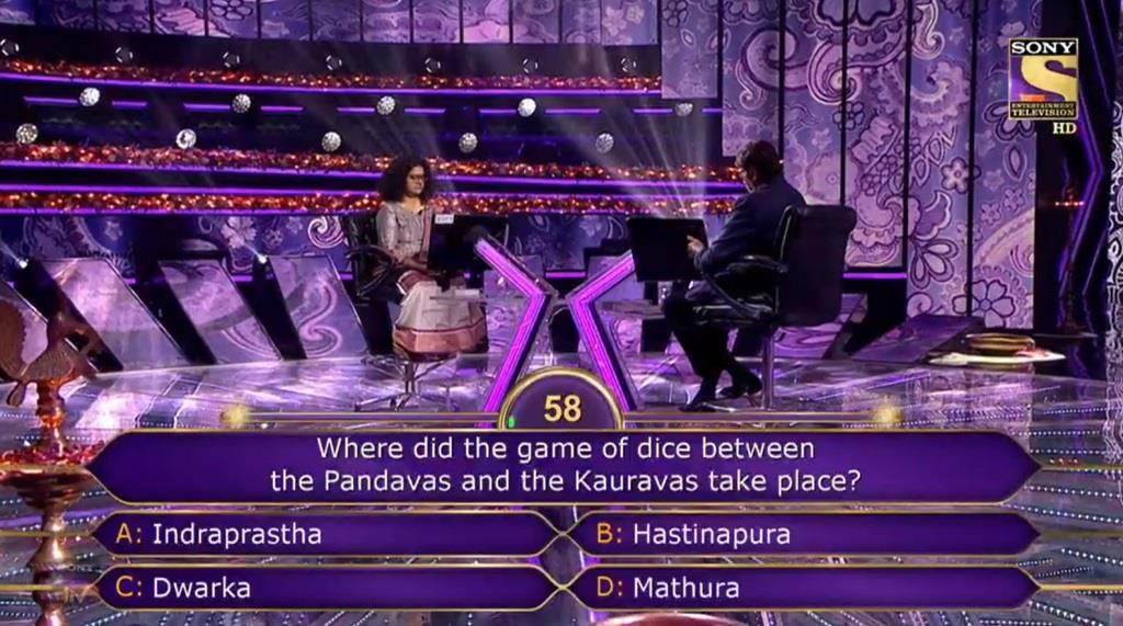 Ques : Where did the game of dice between the Pandavas and the Kauravas take place?