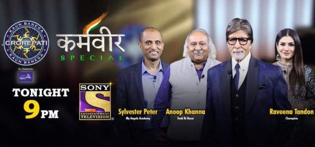 KBC Karamveer ANOOP KHANNA and SYLVESTER PETER and Hotseat