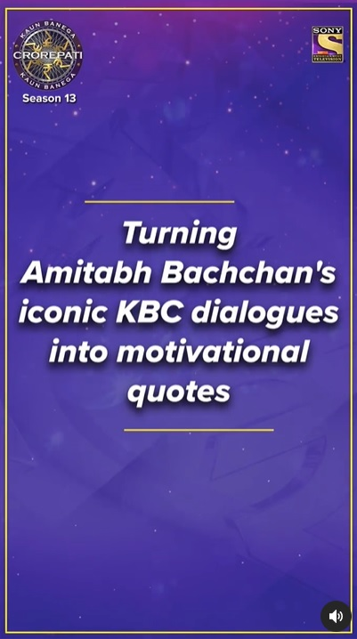 Amitabh Bachchan's iconic KBC dialogues into inspirational quotes – Registration starting 10th May