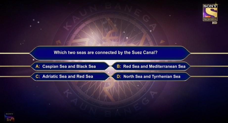 Suez Canal KBC Question