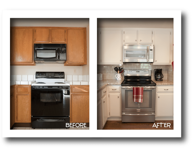 kitchen stove remodel.