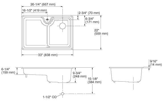 Kohler Carrizo Double Equal Combo Cust Sheet