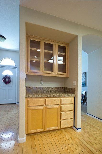 unused kitchen space.
