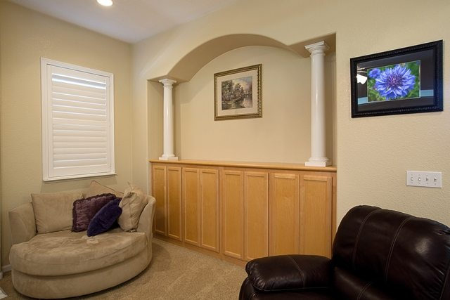 Storage space in living room.