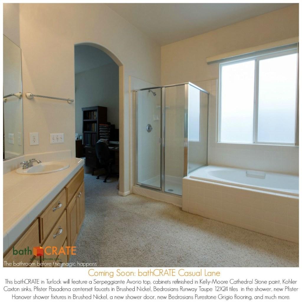 Large Bathroom Remodel, Turlock.