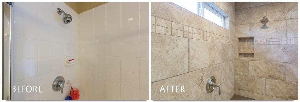 full tile bathroom remodel.