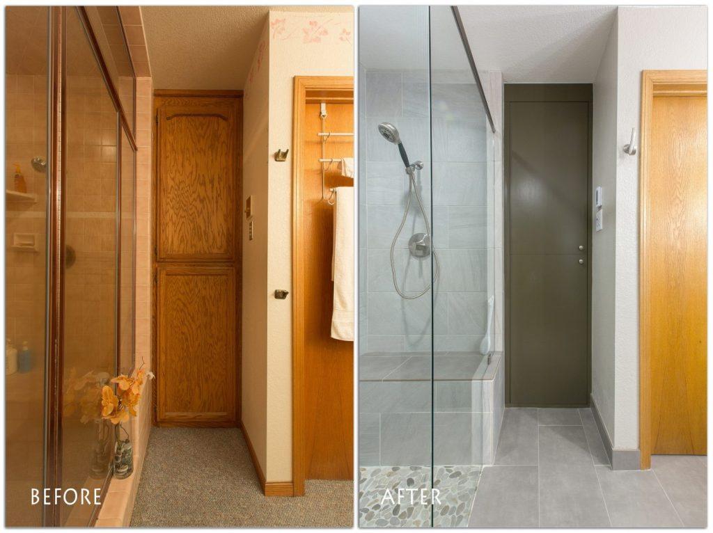 new bathroom storage cabinets.