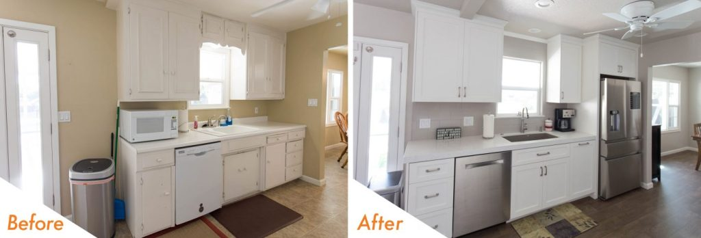 kitchen remodel with new cabinets.