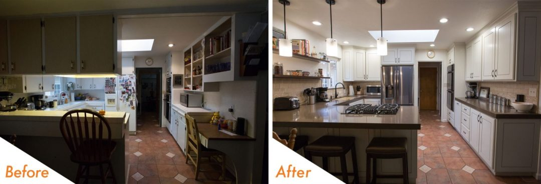 Custom kitchen renovation.