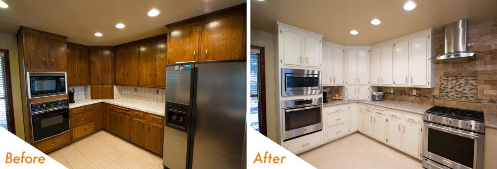 before and after, custom kitchen remodel.